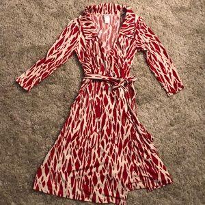 Aqua Zebra Printed Wrap Dress
